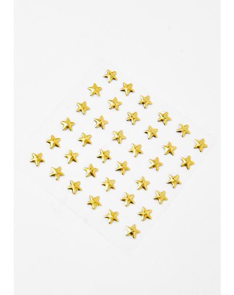 Gilded Stars Face Gems