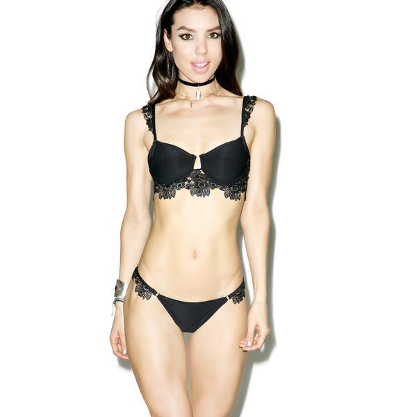 For Love & Lemons Barcelona Lace Underwire Bikini Top
