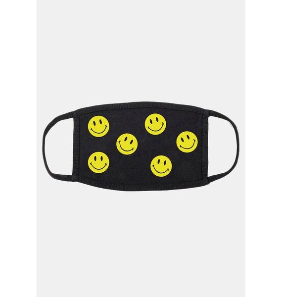 CHINATOWN MARKET Smiley Dots Face Mask