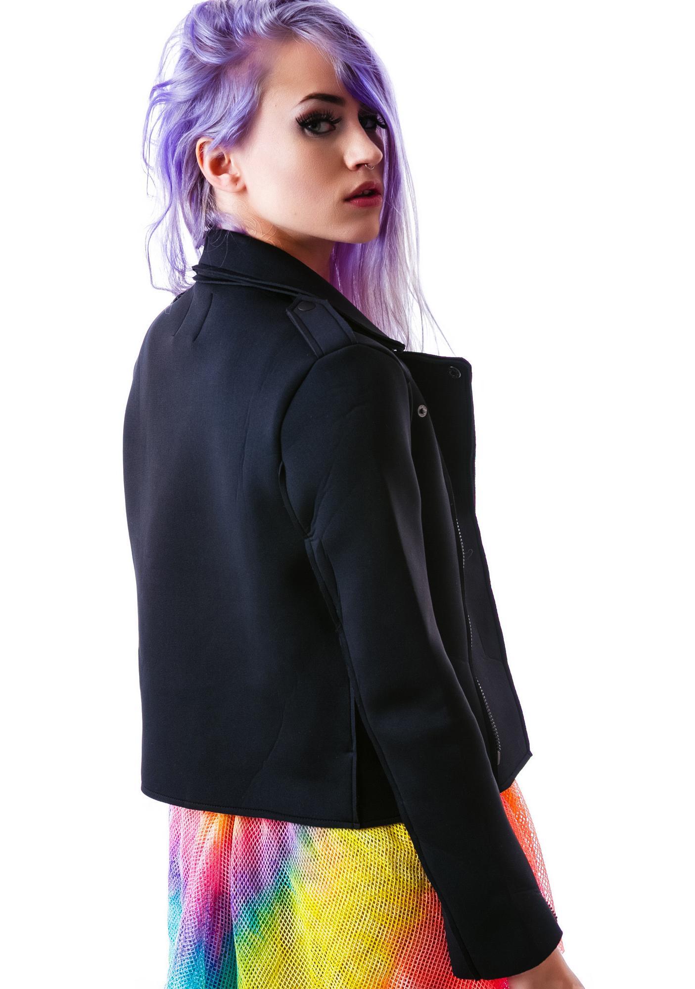 UNIF Neoprene Moto Jacket