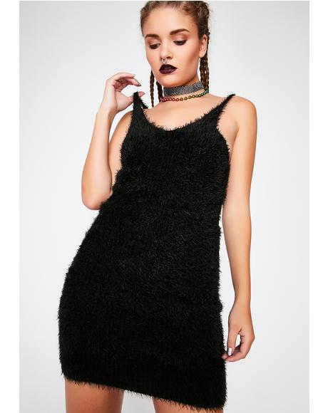 Feelin' Vibes Fuzzy Dress