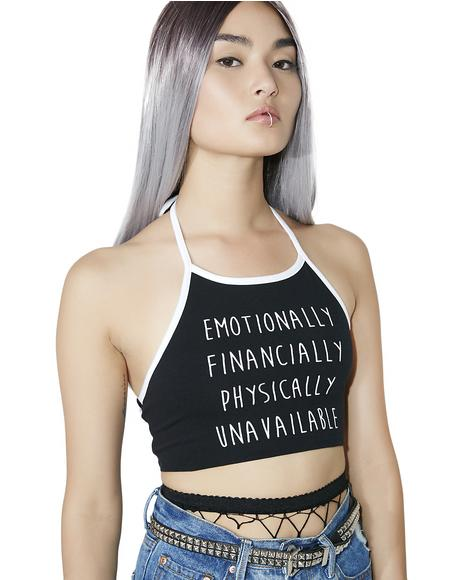 Unavailable Halter Top