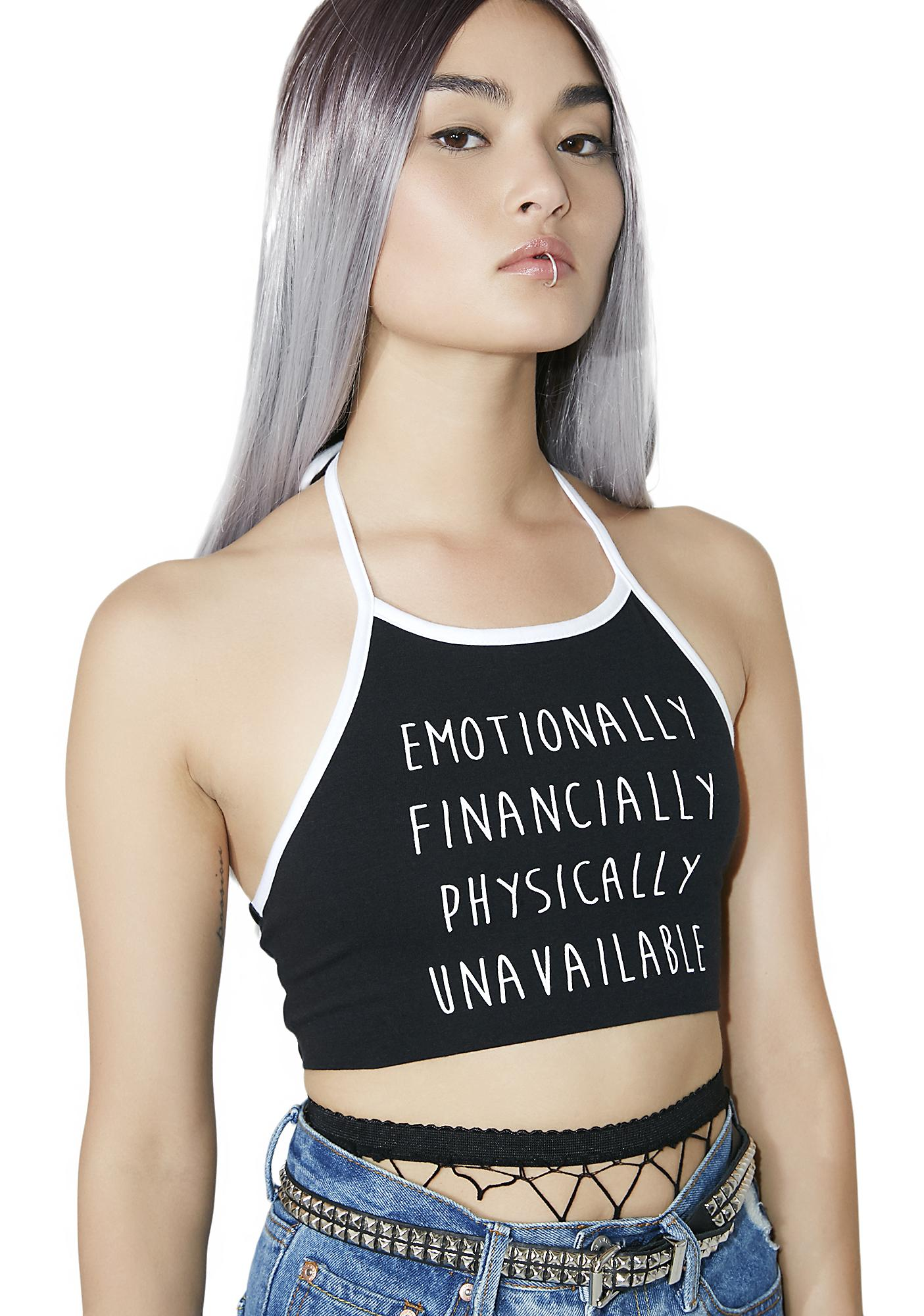 MeYouVersusLife Unavailable Halter Top