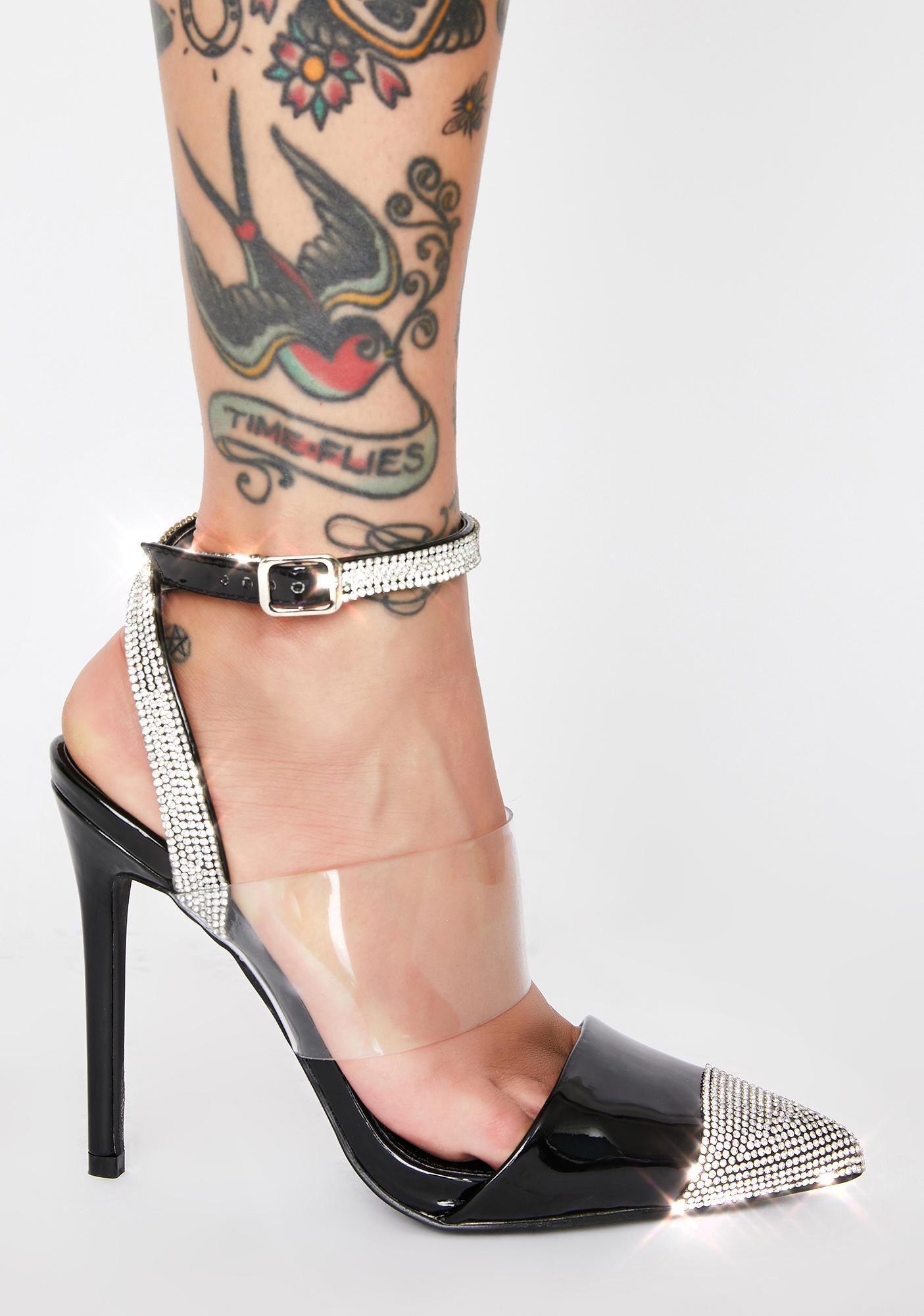AZALEA WANG Jane Rhinestone Heels