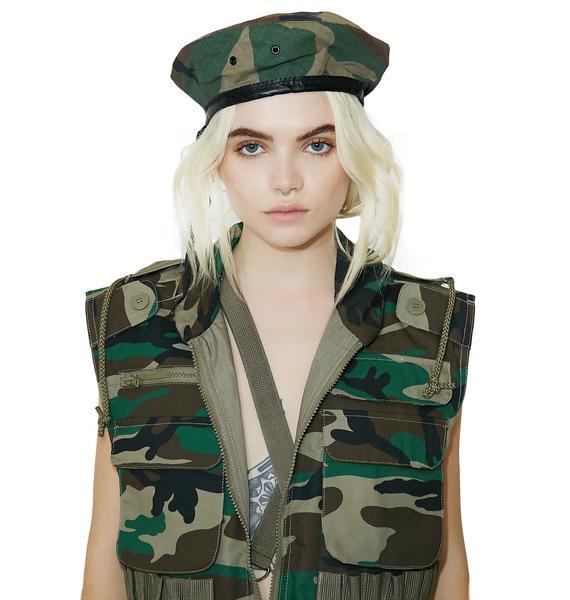 Camouflage G.I. Beret