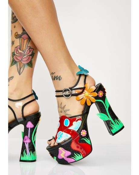 Fantasia Garden Platform Sandals