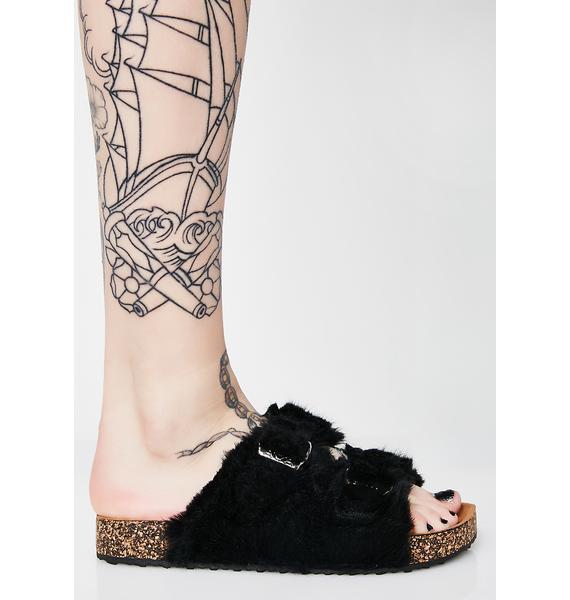 Dark Fuzzy Footprints Slides
