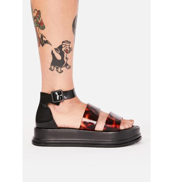 Melissa Model Platform Sandals