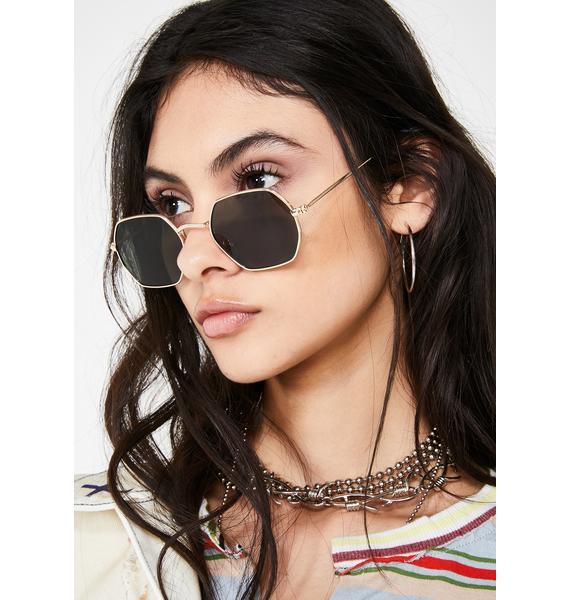 On The Balcony Oval Sunglasses