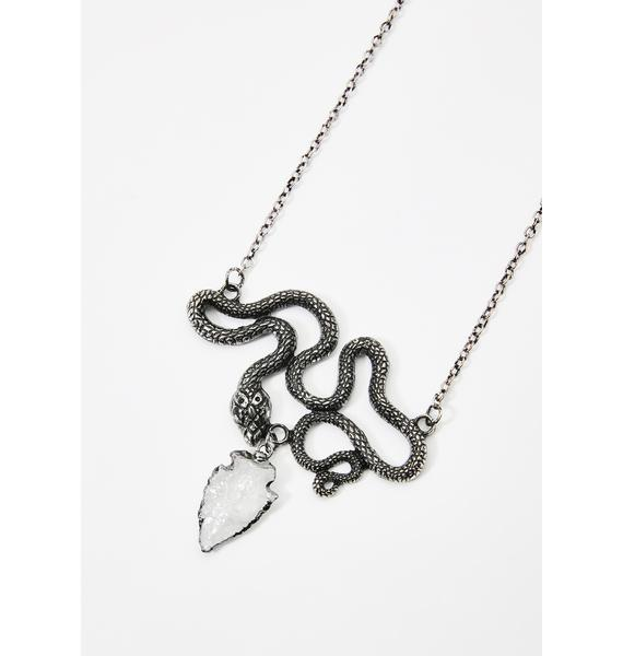 Restyle Entwine Snake Crystal Necklace