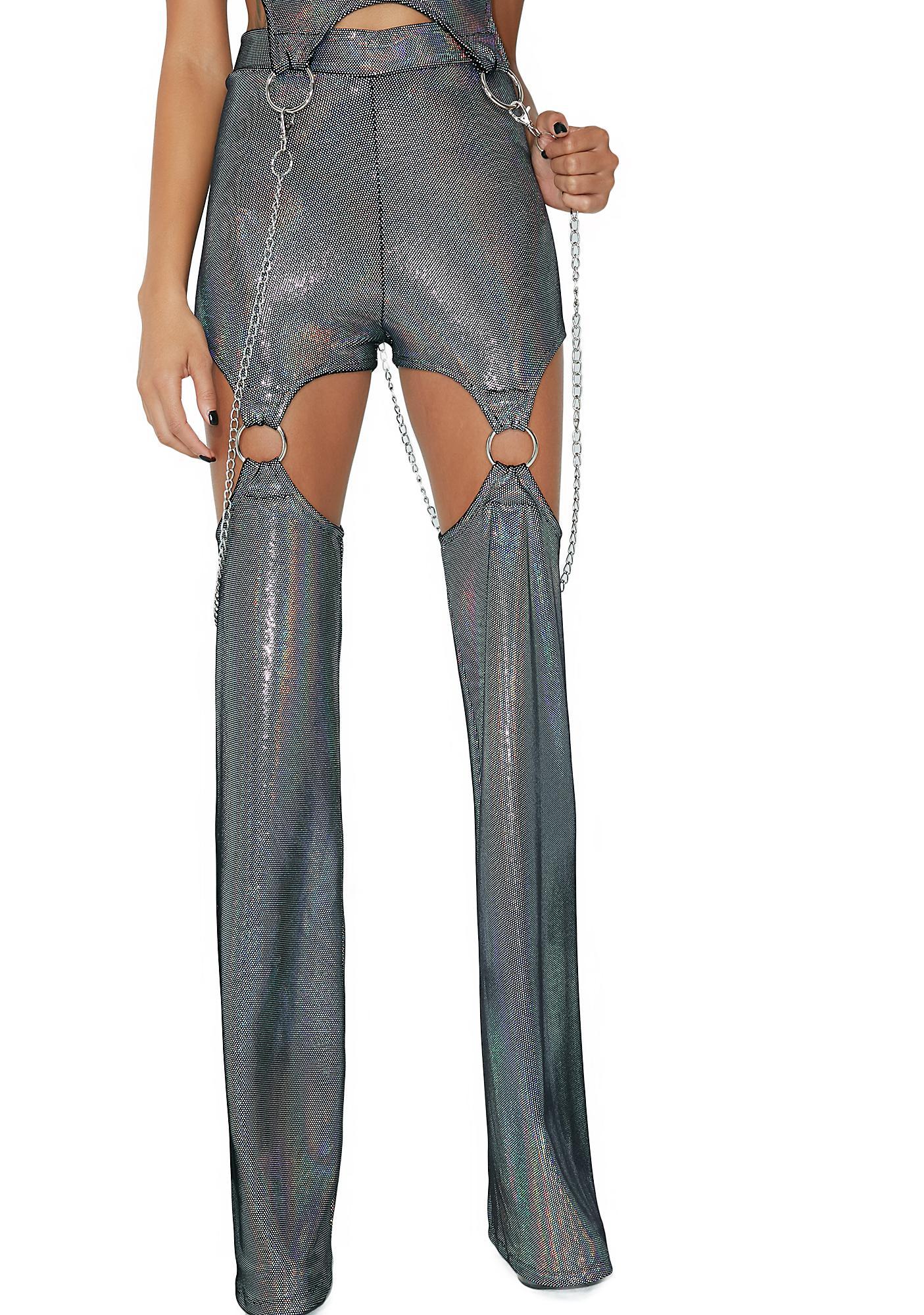 DEVOWEVO Oil Burner Garter Pants