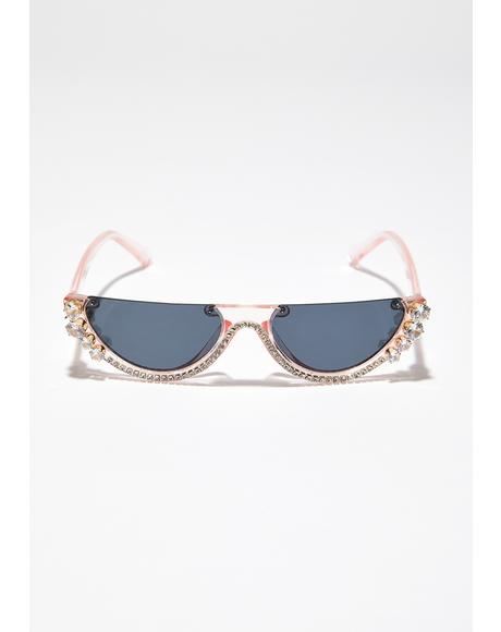 Sweet Crystal Vizion Half Sunglasses
