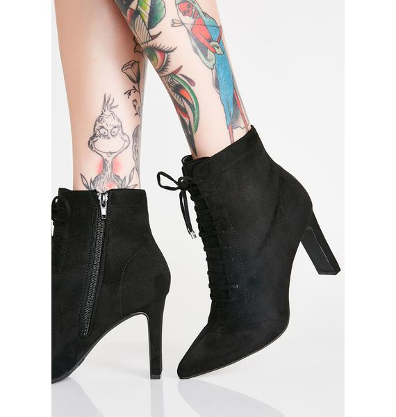 Real Life Lace-Up Booties
