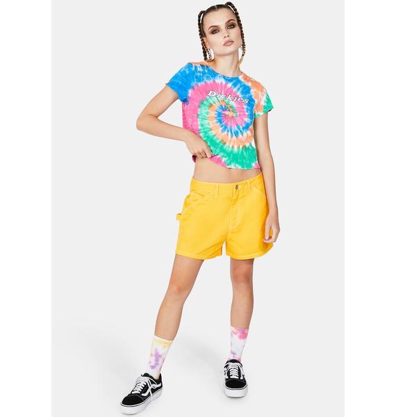 Dickies Girl Gold High Rise Carpenter Shorts