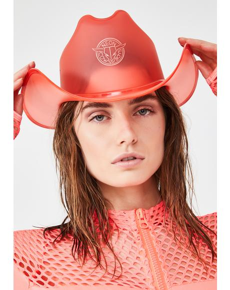 Phoenix Red Light Up Cowboy Hat