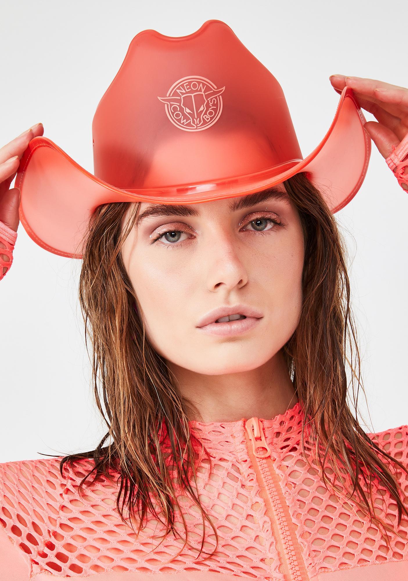 Neon Cowboys Phoenix Red Light Up Cowboy Hat