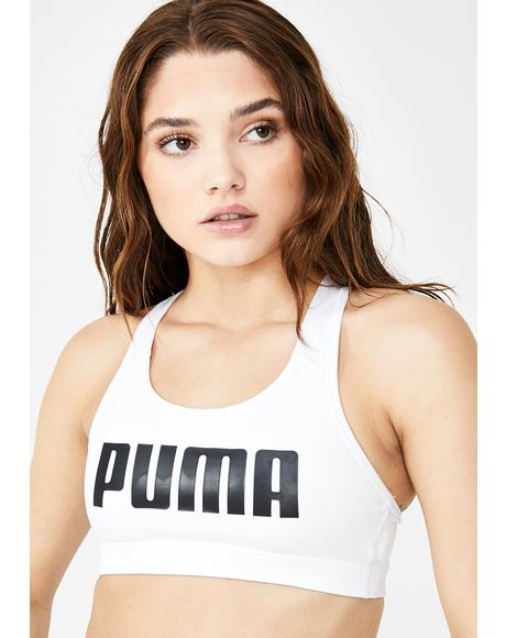Puma White 4Keeps Bra