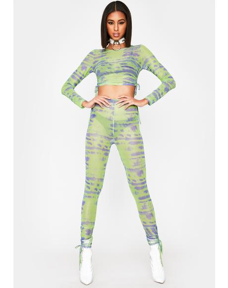 Lime Tough Competition Mesh Pants
