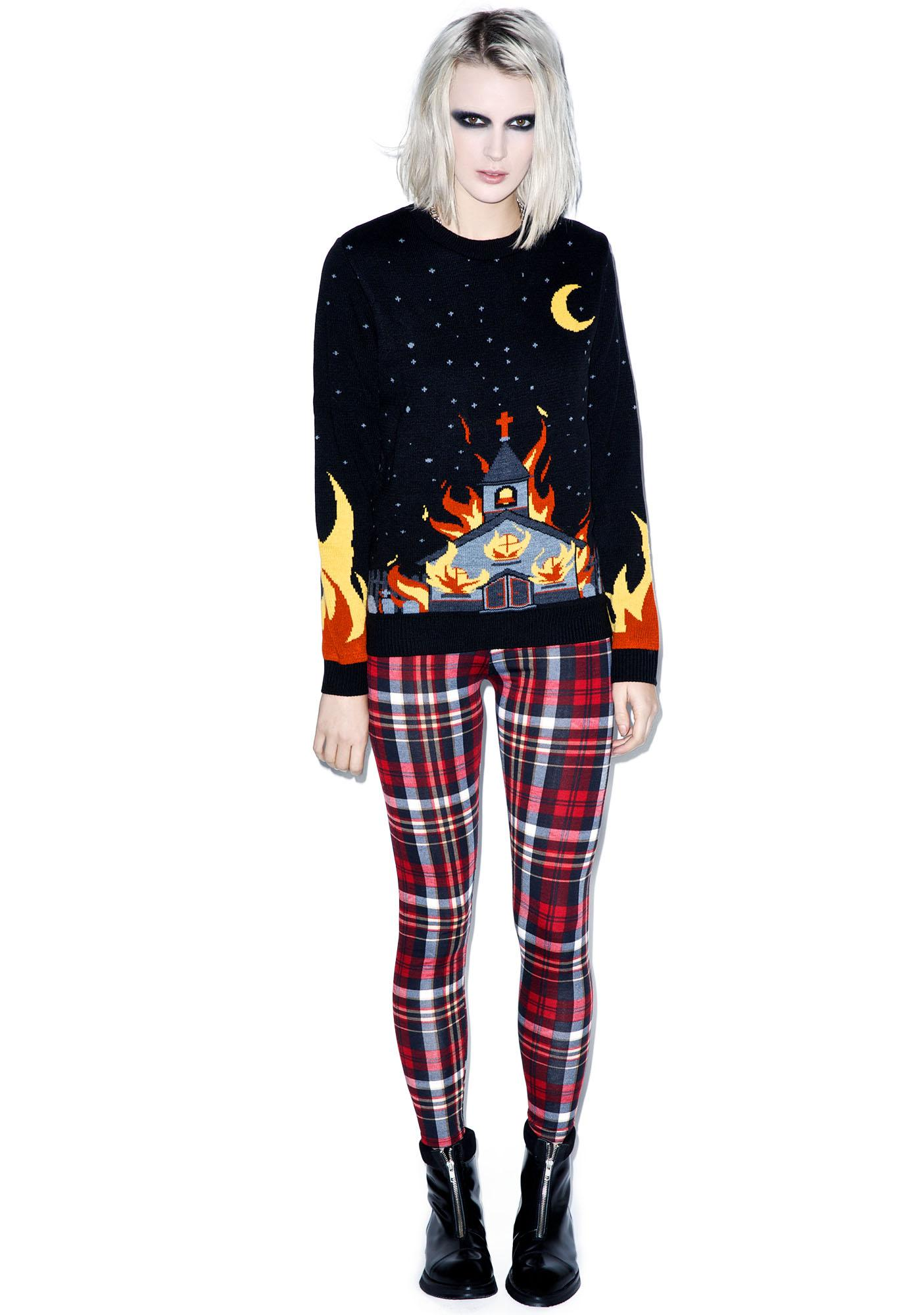 Killstar Church Knit Sweater