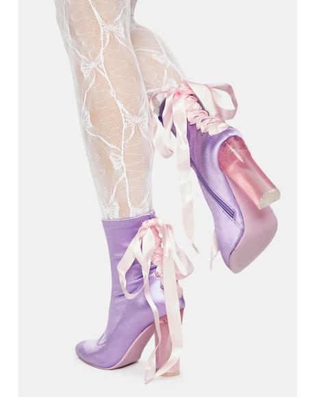 Take A Bow Corset Booties