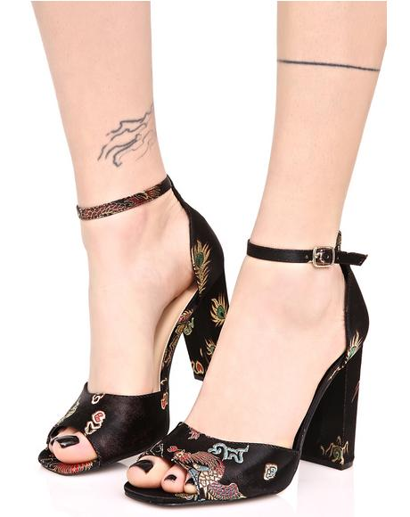 Myrna Embroidered Heels