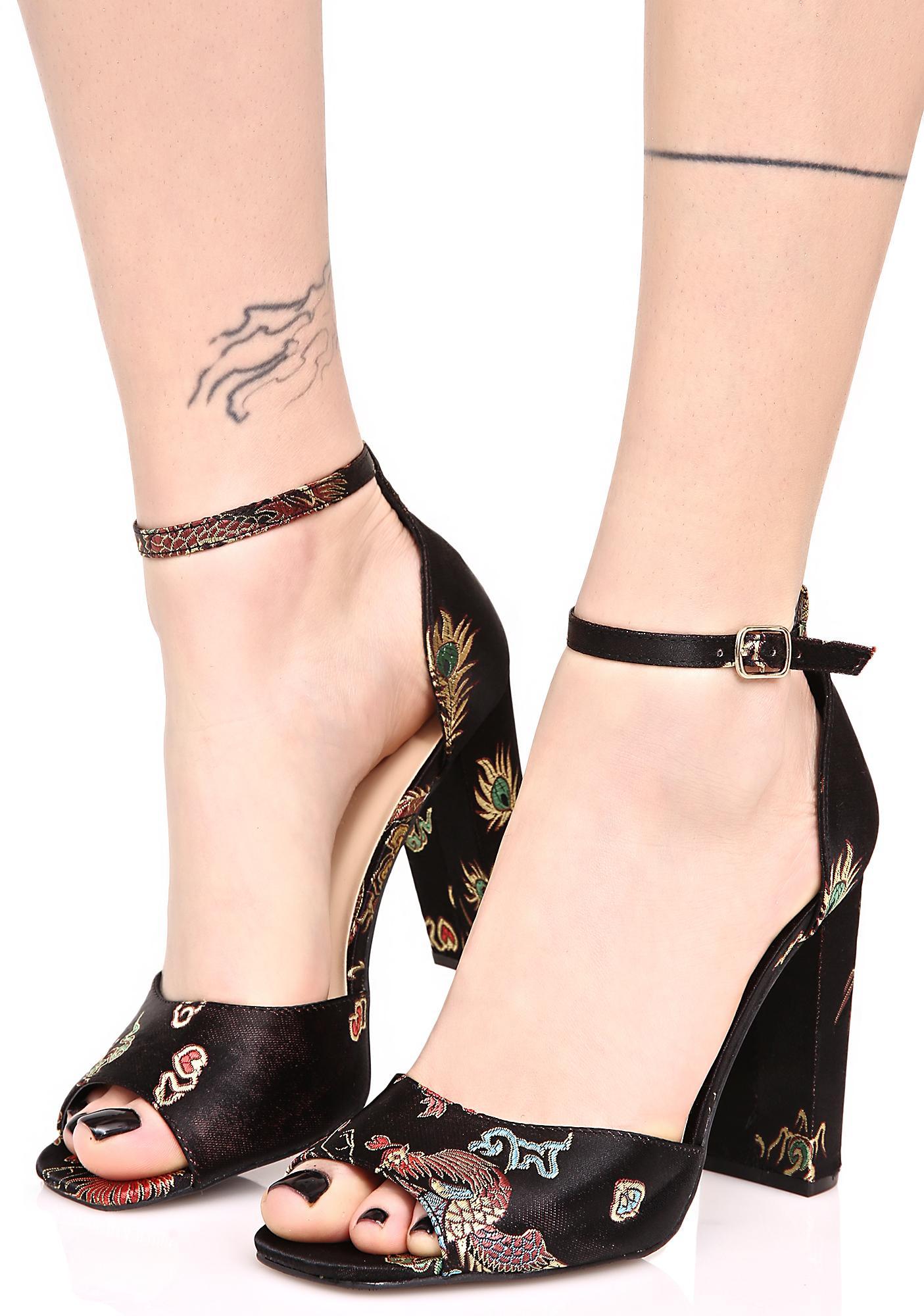 Myrna Embroidered Heels