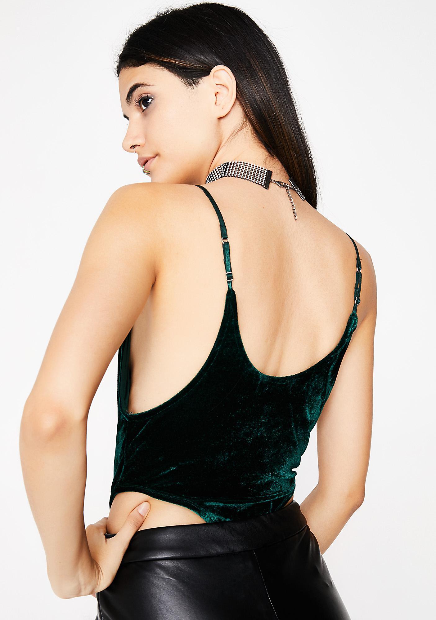 31756e8d54 ... Emerald Change Of Heart Velvet Bodysuit