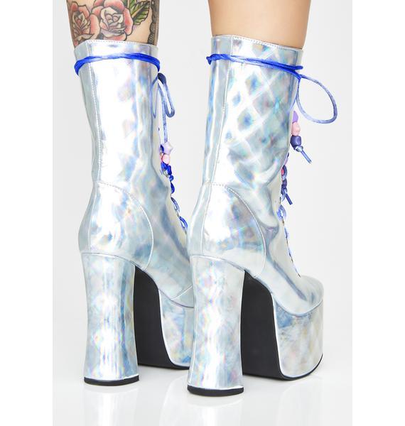 Current Mood Astral Magic Hologram Boots