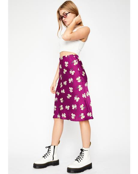 Prissy Perennial Midi Skirt
