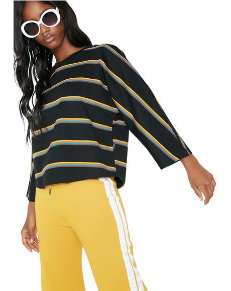 Glenda Box Fit Stripe Top