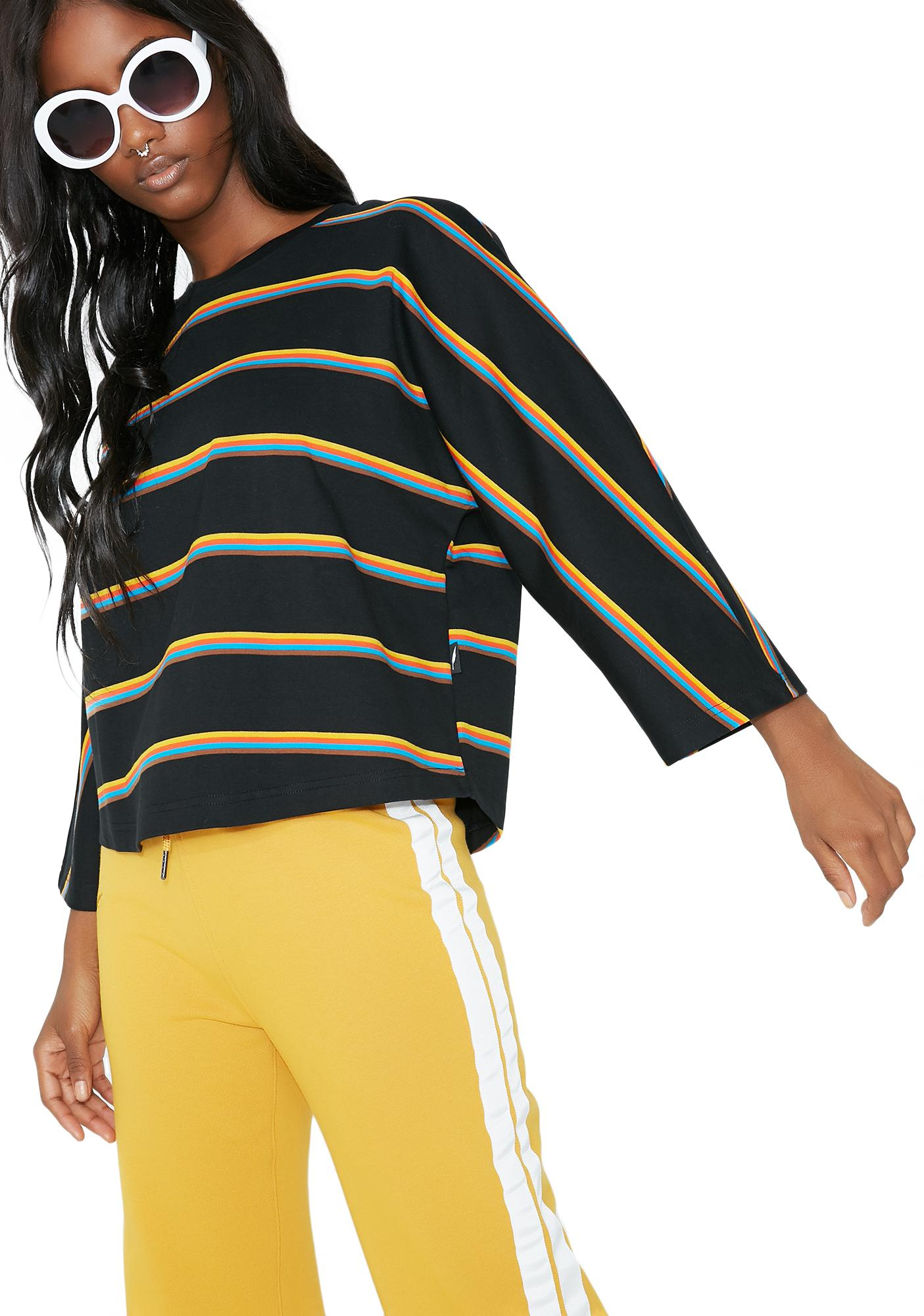 Publish Glenda Box Fit Stripe Top