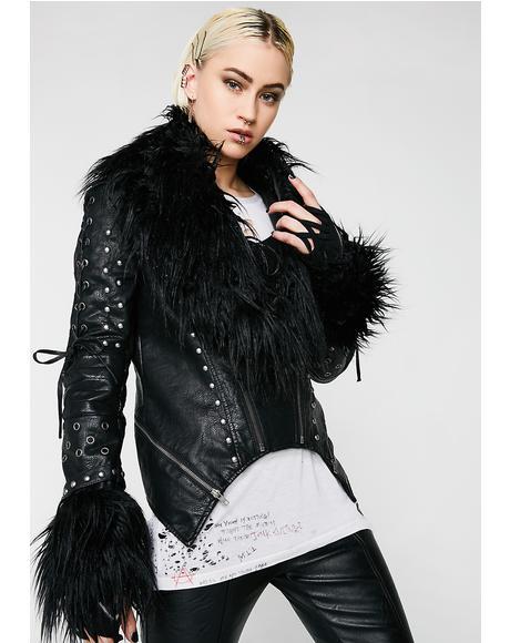 Ragnarok Fur Biker Jacket