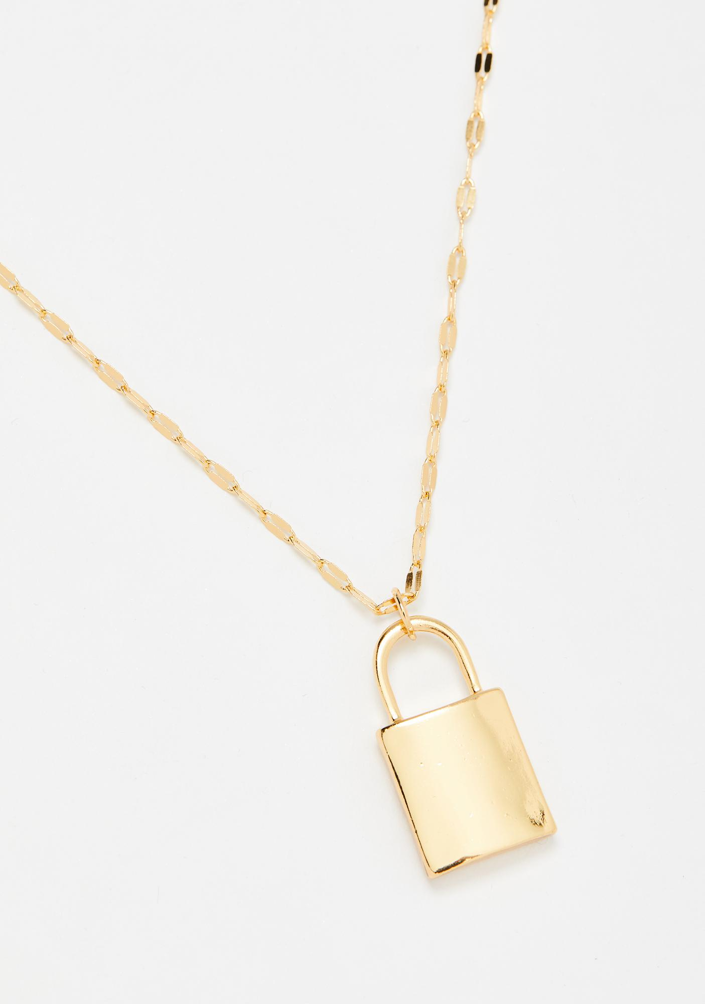 Steal Ur Heart Lock Necklace