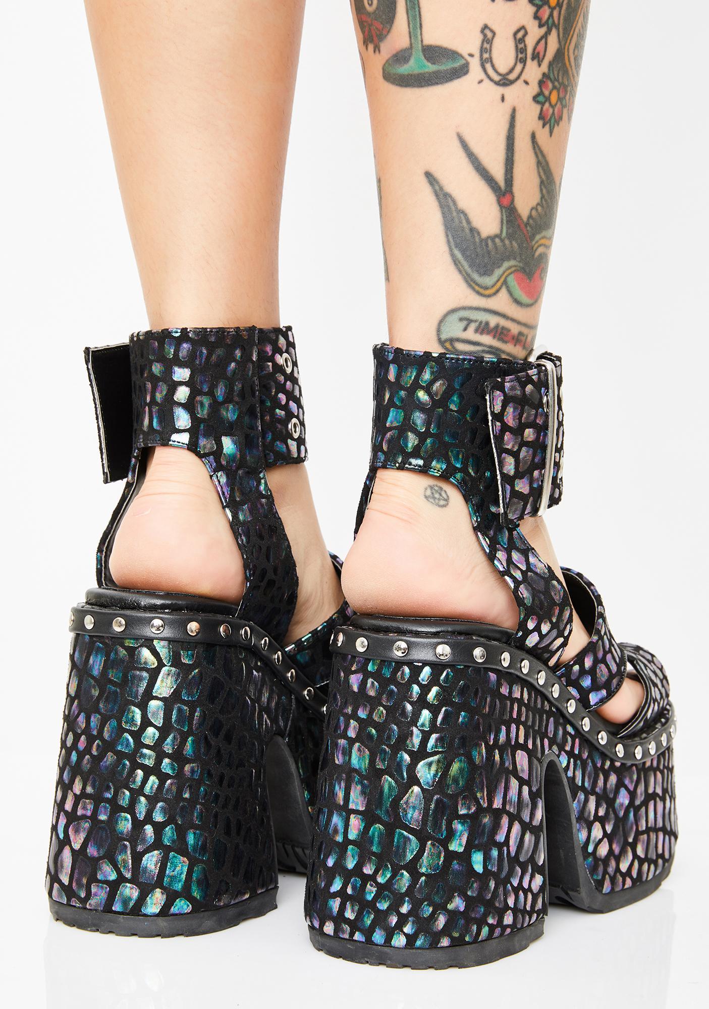 Demonia Viper Soul Crushin' Platform Heels