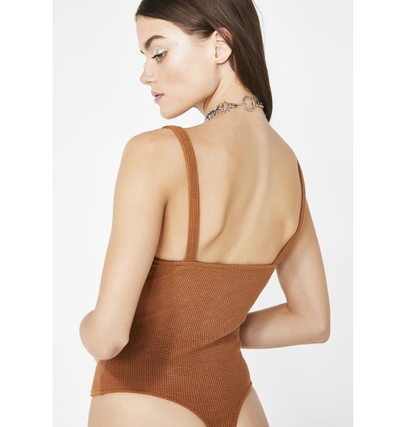 Mojave Don't Wait Up Ribbed Bodysuit