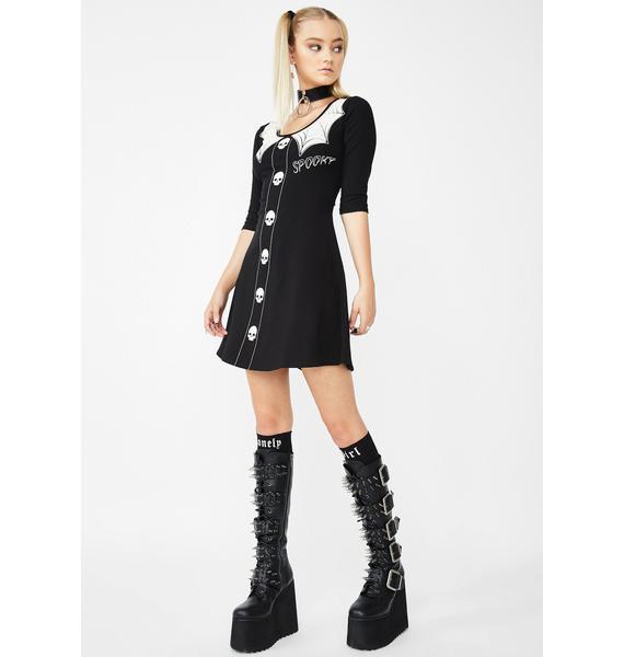 Kreepsville 666 Spooky Girl Flare Mini Dress
