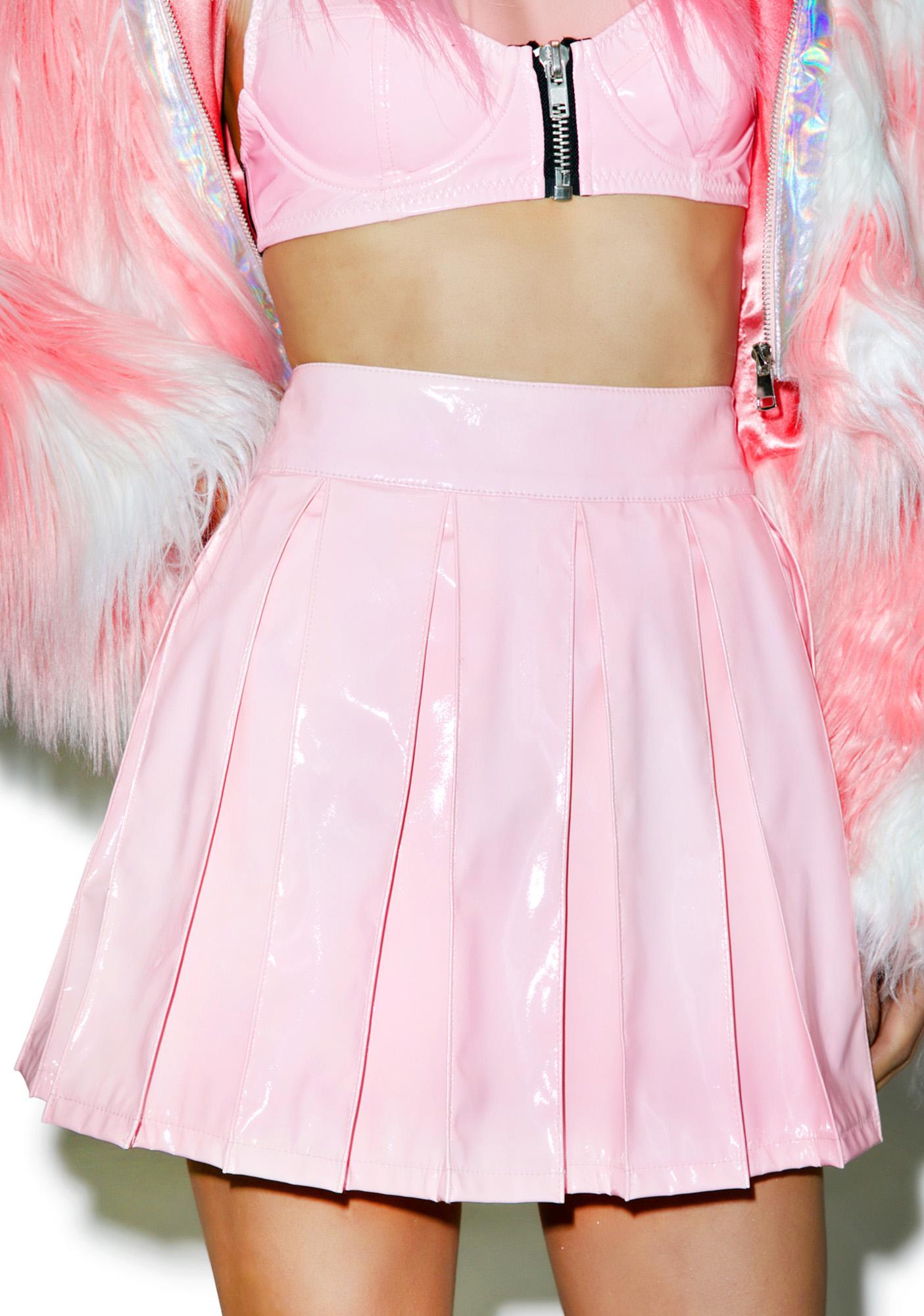 24HRS Princess Pastel Vinyl Skirt