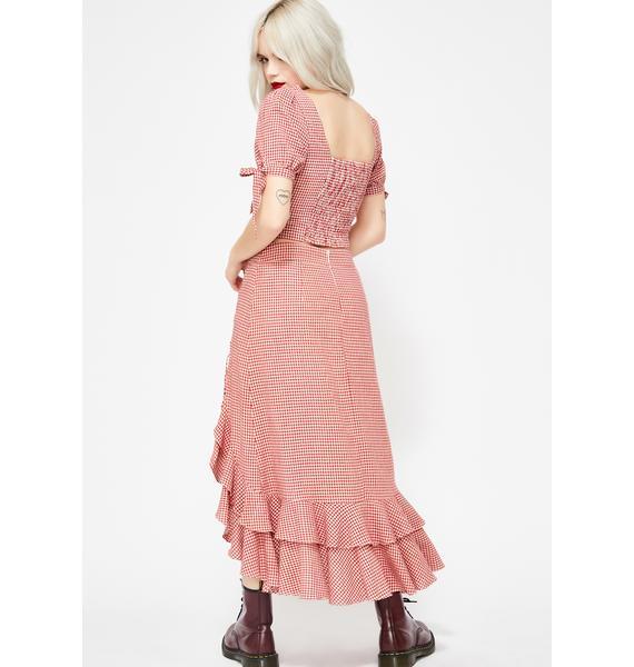 Isn't She Lovely Gingham Skirt