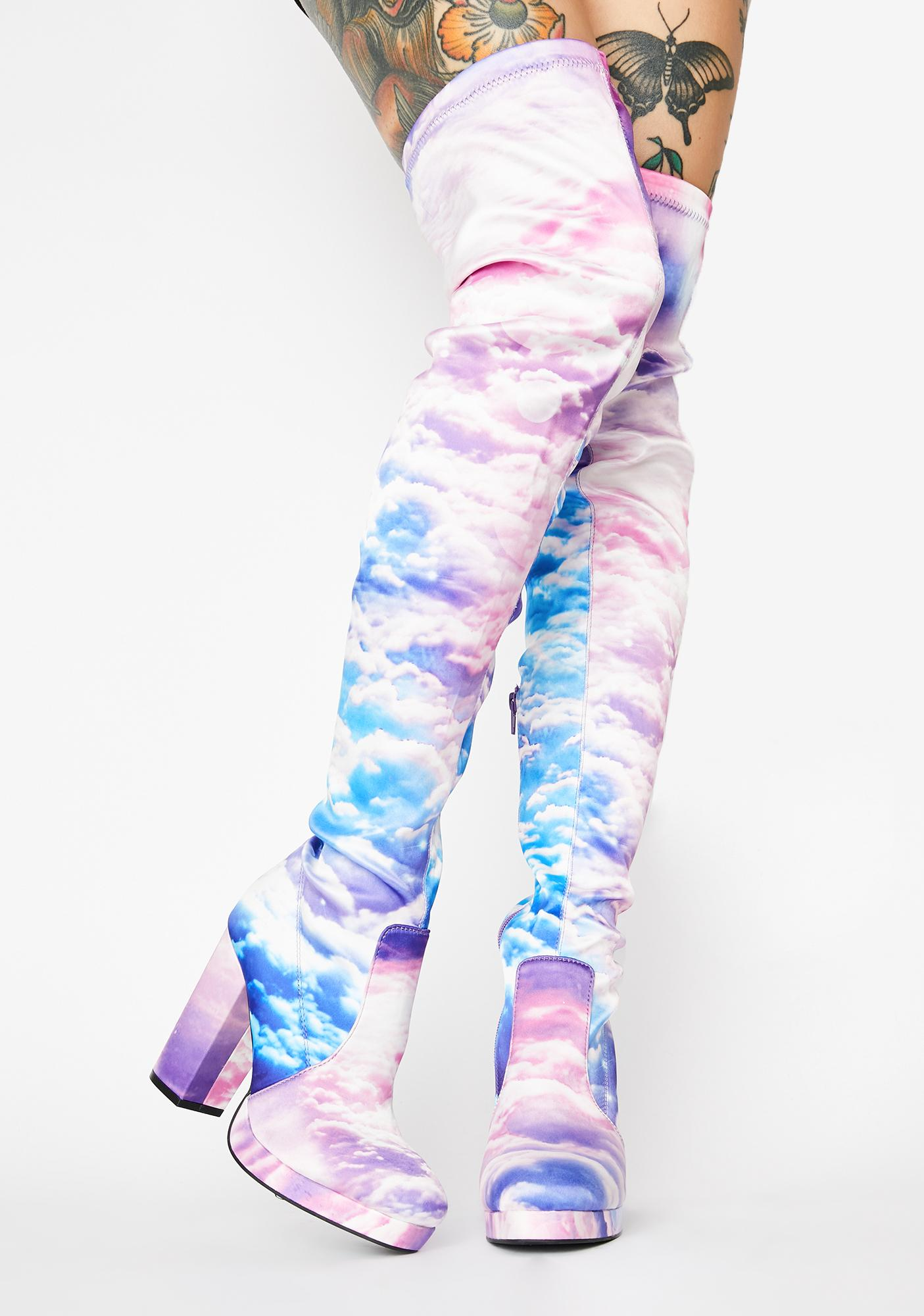 HOROSCOPEZ Heaven's Calling Thigh High Boots