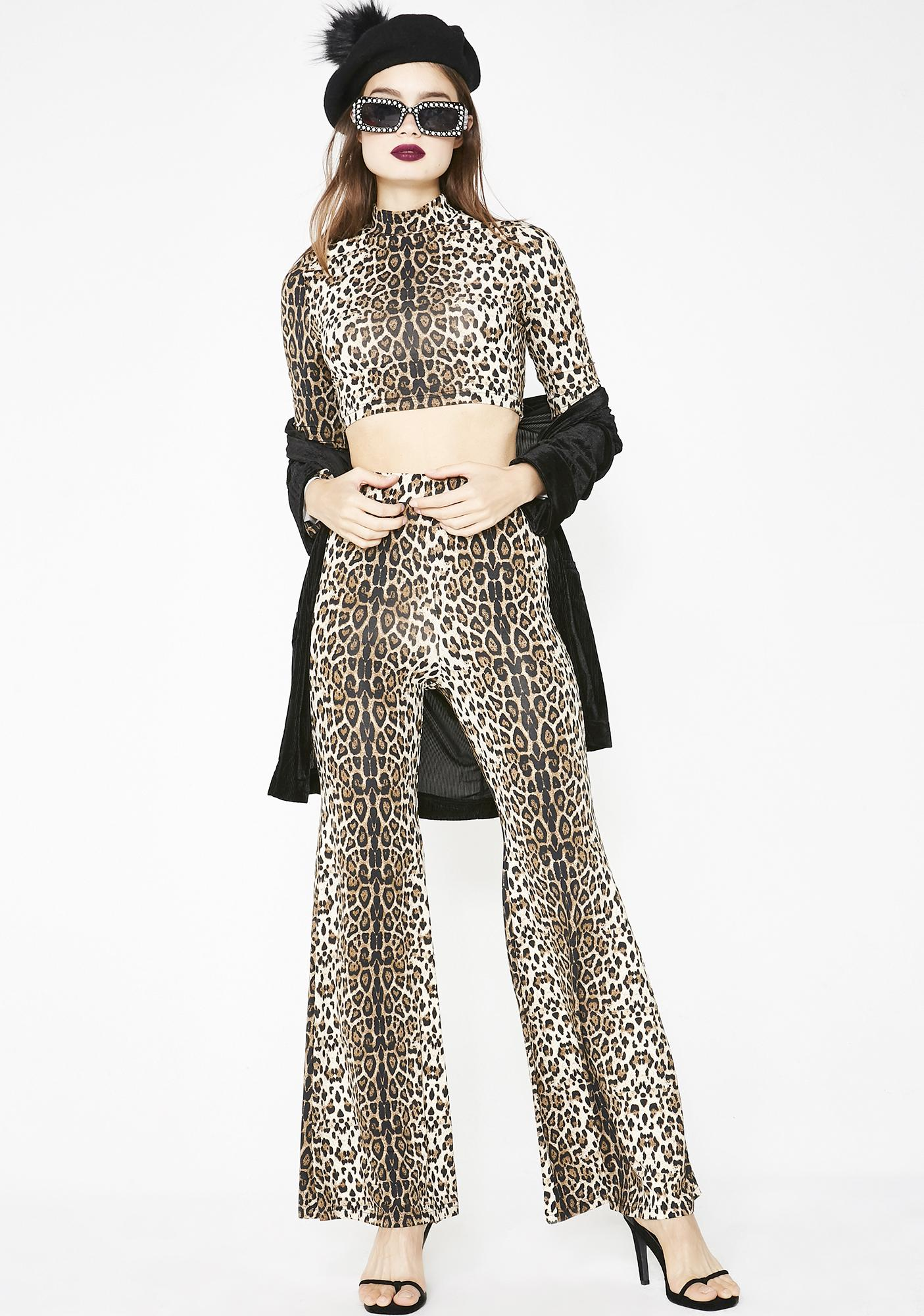 Catitude Leopard Crop Top
