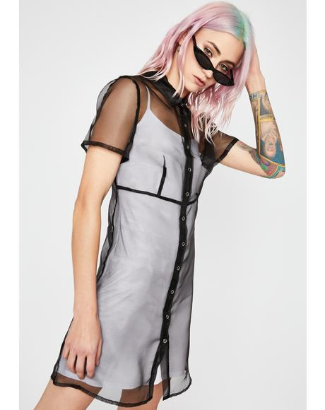 Back To Life Shirt Dress