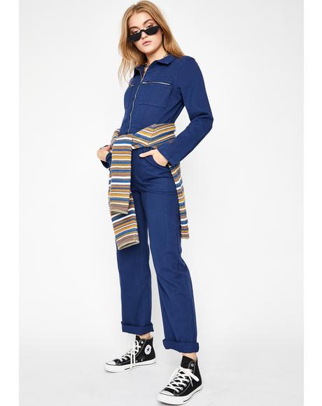 Chill Detention Junkie Zip Up Jumpsuit