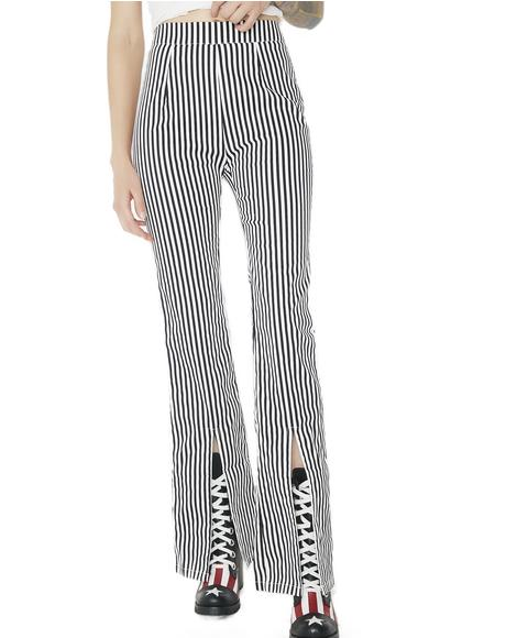 Let It Ride Striped Pants