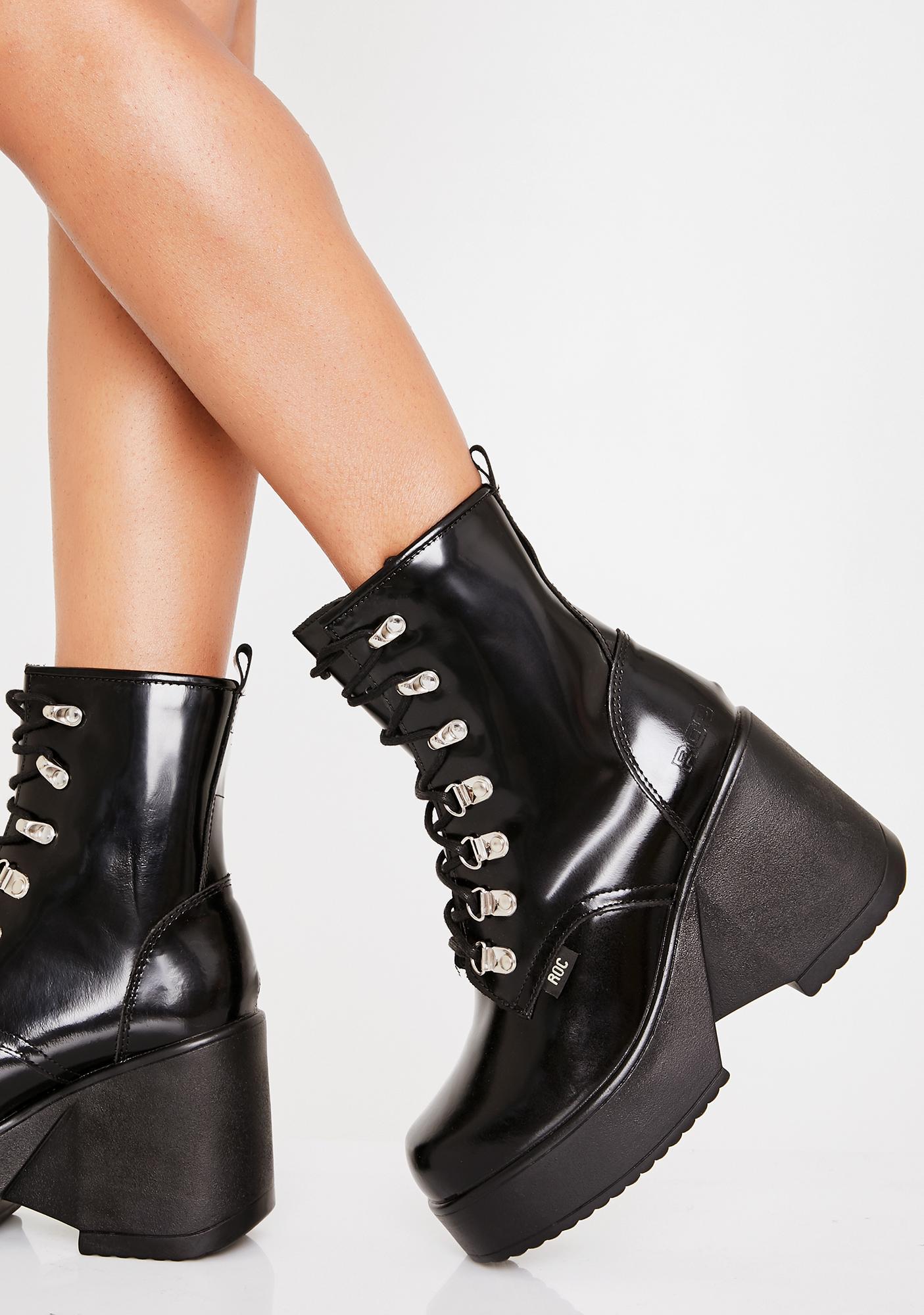95ac6b0a394 ROC Boots Australia Pelham Wedge Boots | Dolls Kill