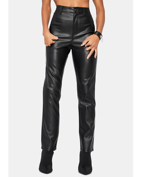 Rebel At Heart Vegan Leather Slim Pants