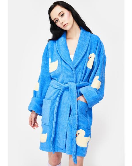 Bath Duck Applique Short Robe