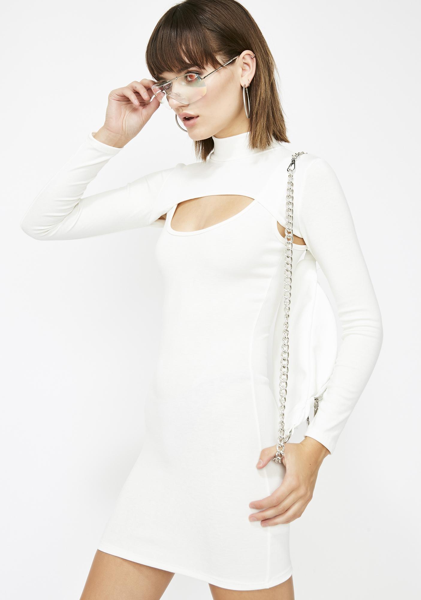 Icy Dangerous Damsel Bodycon Dress