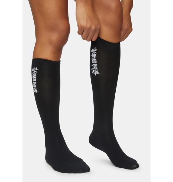 DARKER WAVS Synth Vertical Logo Crew Socks