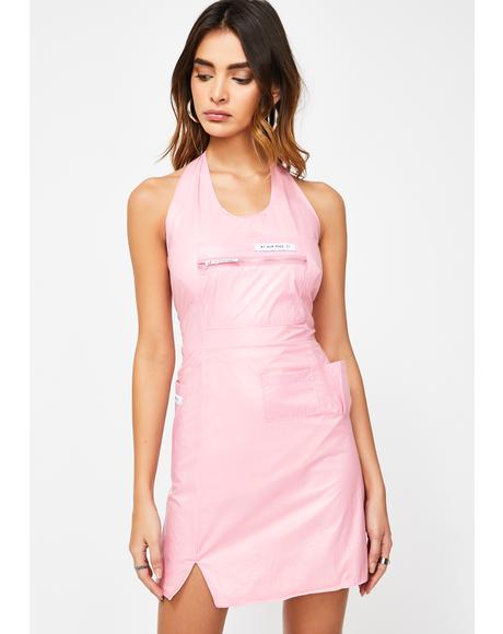 Baby Halter Utility Pocket Dress