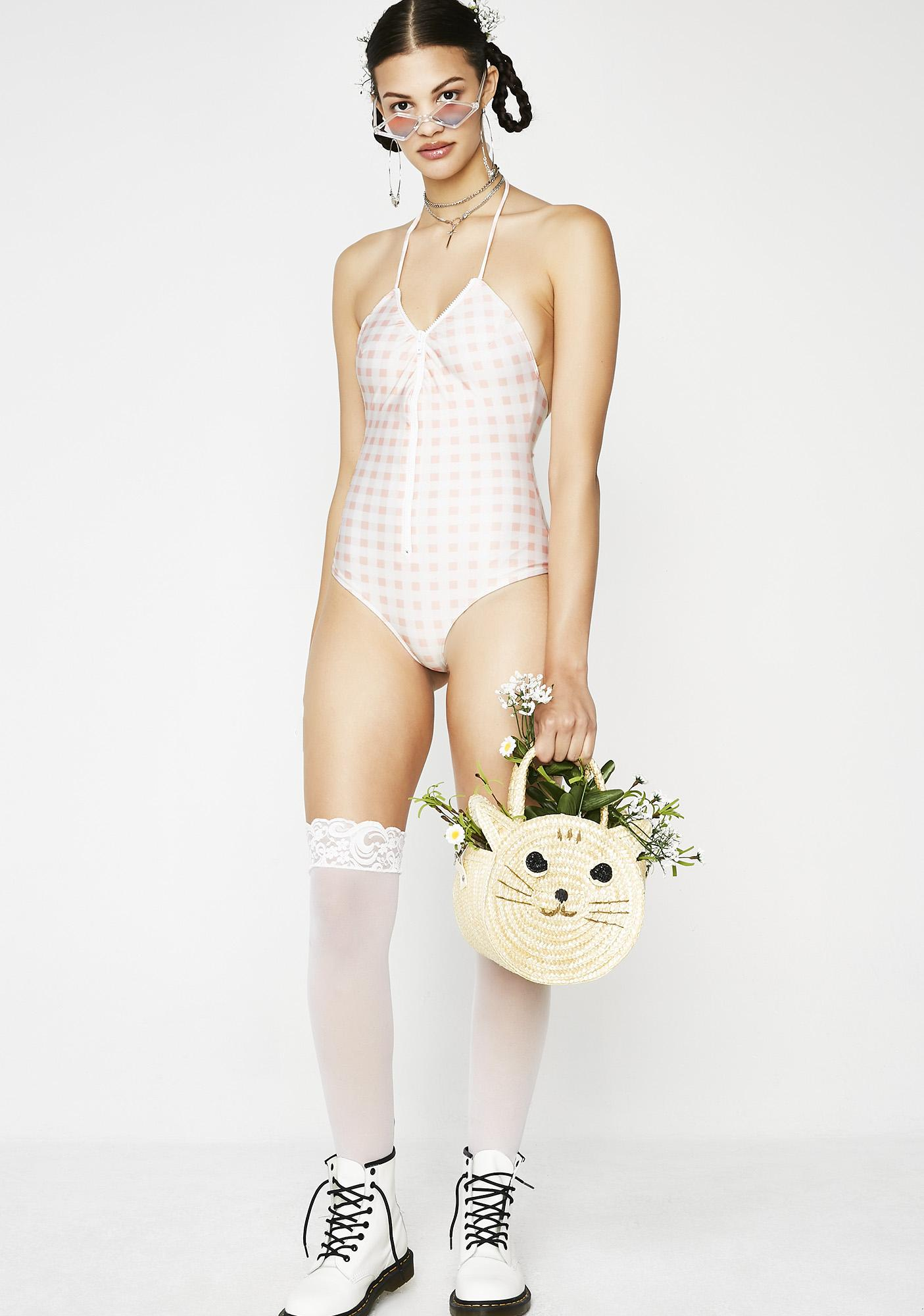 For Love & Lemons Bonnie Zip Front One Piece